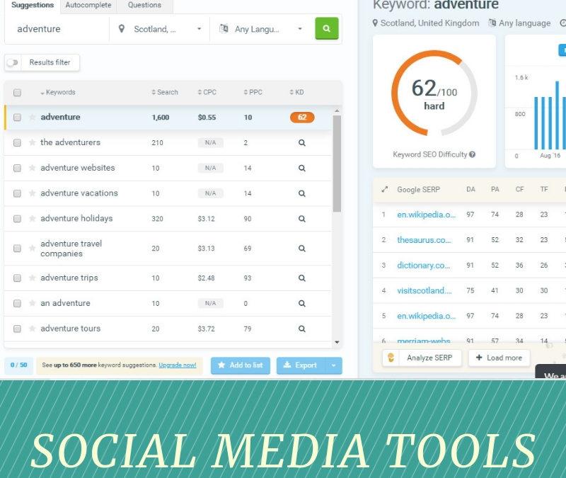 KWFinder – Social Media Tool of the Week