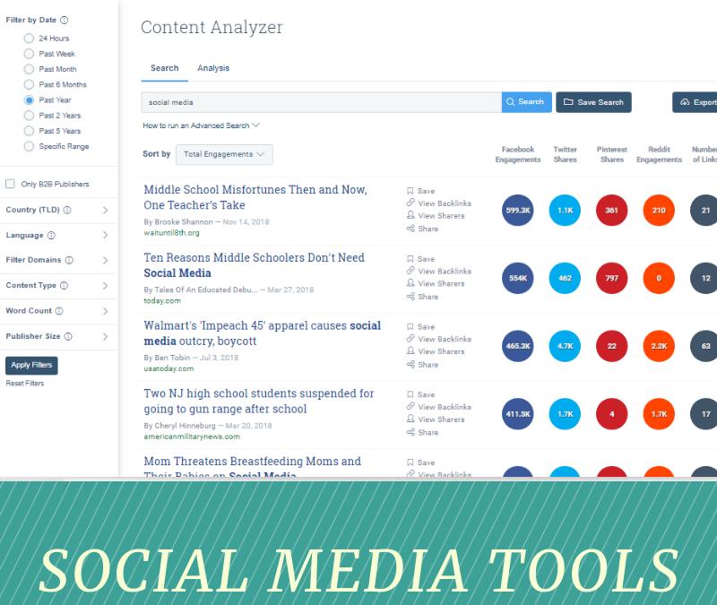 Buzzsumo – Social Media Tool of the Week